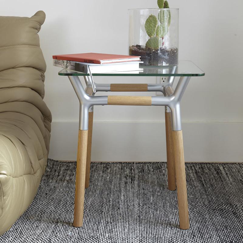 Столик придиванный konnect никель от Roomble