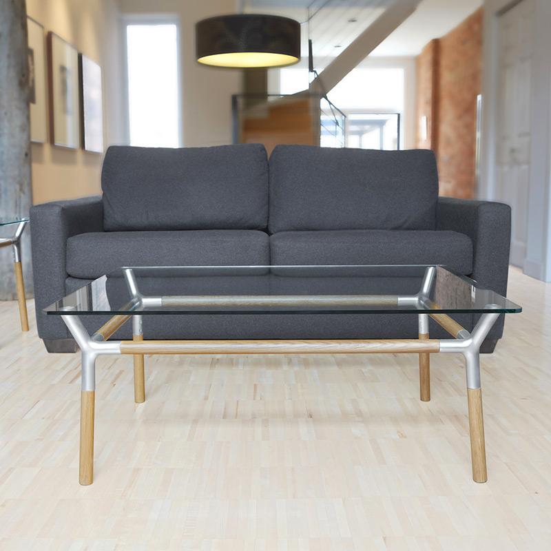 Столик кофейный konnect никель от Roomble