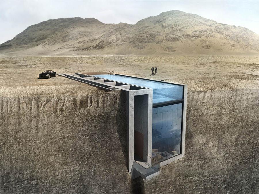 Дом с бассейном вместо крыши