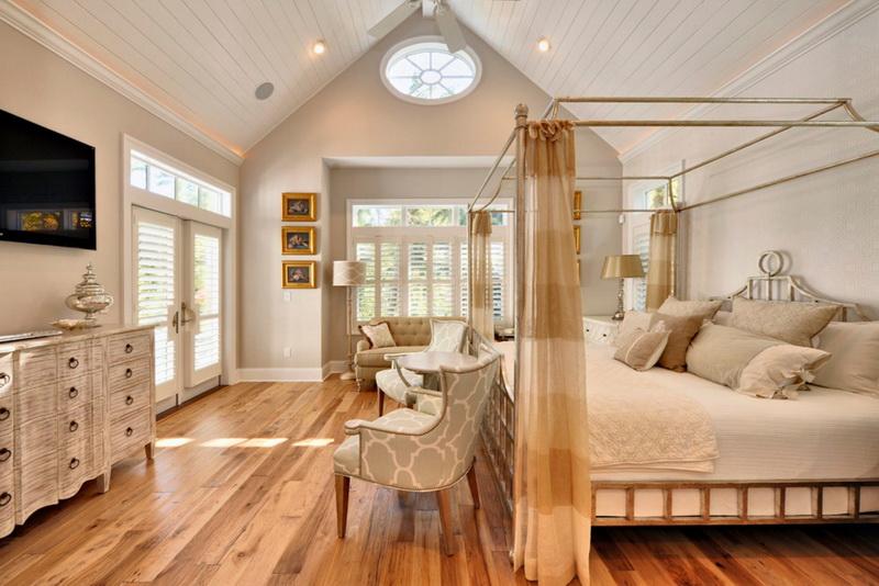 Спальня в  цветах:   Бежевый, Желтый, Коричневый, Светло-серый.  Спальня в  стиле:   Арт-деко.