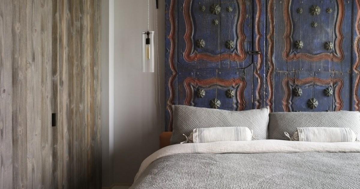 Из чего сделать изголовье кровати: 30 примеров