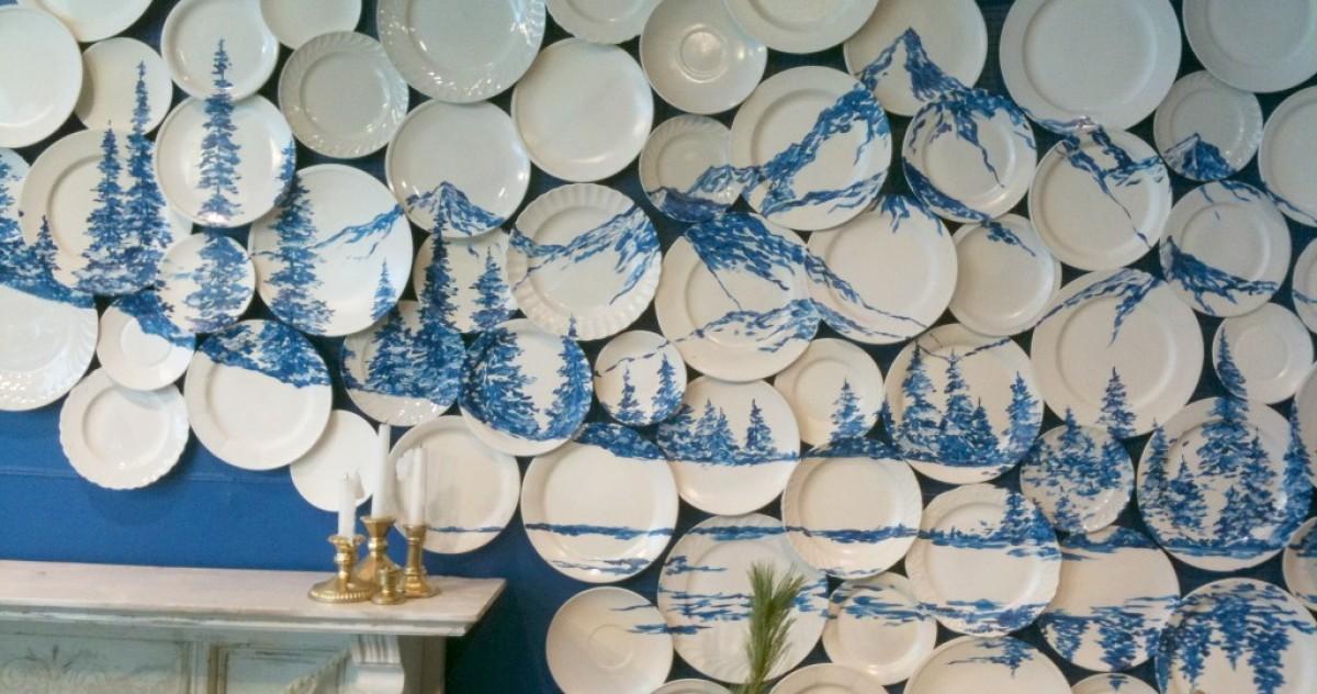 Шпаргалки от roomble: 10 правил украшения стен тарелками