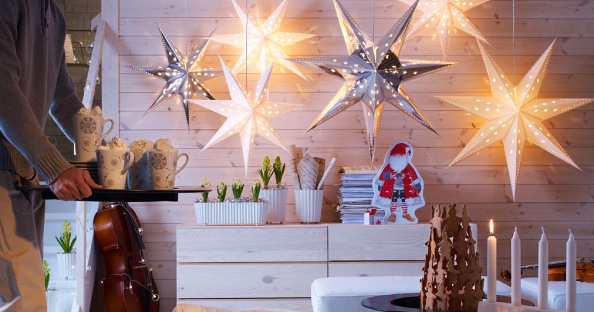Новогодний декор: как создать ощущение праздника в маленькой квартире без ёлки