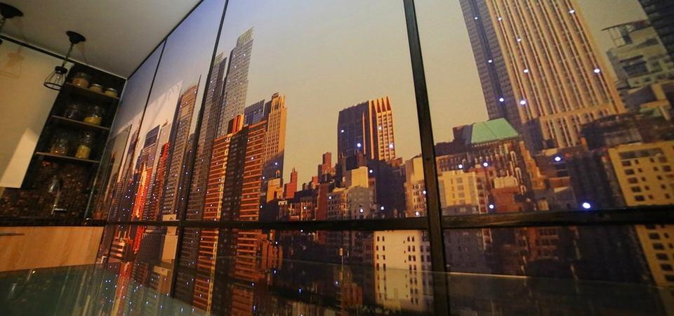 Как в Москве сделали кухню с видом на Манхэттен