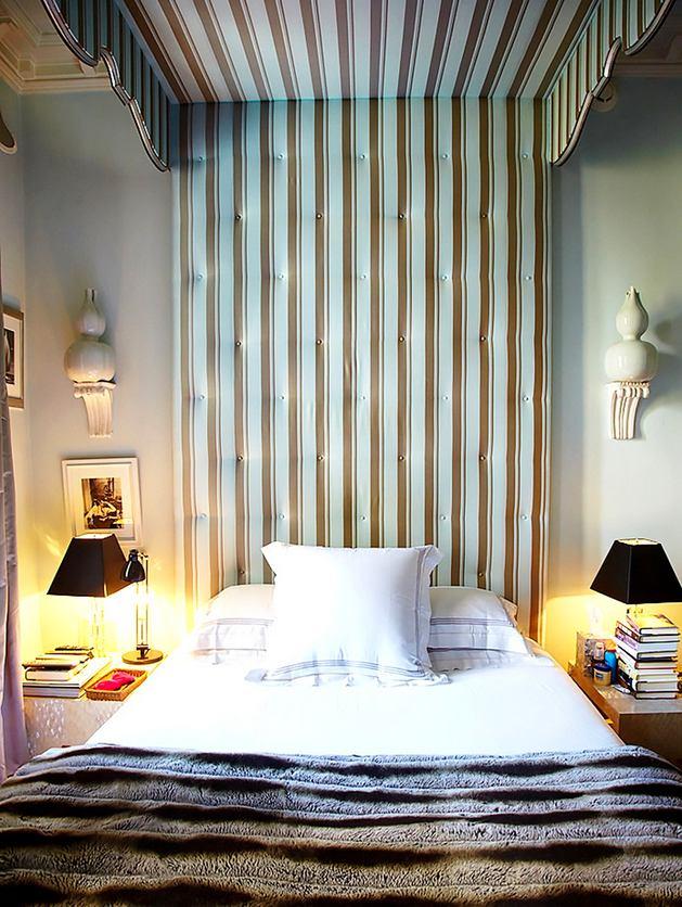 Спальня в цветах: желтый, светло-серый, белый, коричневый, бежевый. Спальня в стилях: английские стили, эклектика.