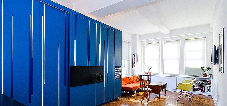 Четыре в одном: квартира-трансформер на 37 метрах для холостяка