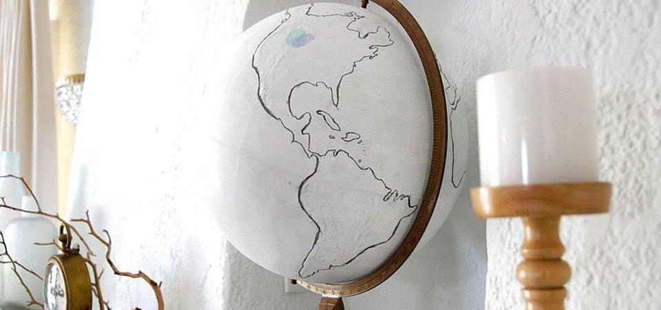 Винтажный глобус за 8 шагов. Мастер-класс