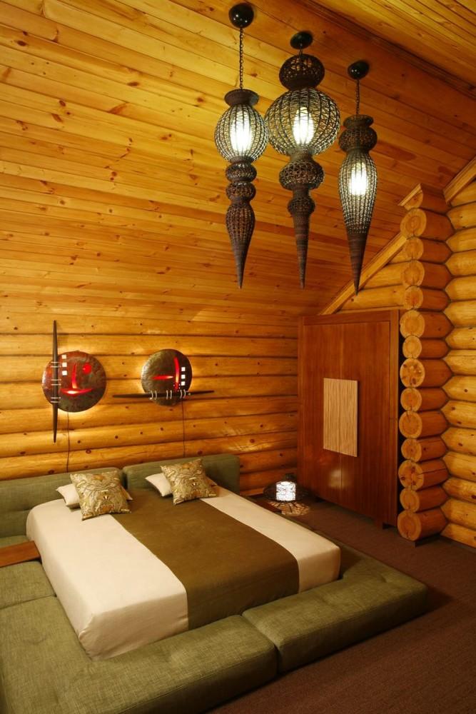 Спальня в цветах: серый, коричневый, бежевый. Спальня в стиле дальневосточные стили.