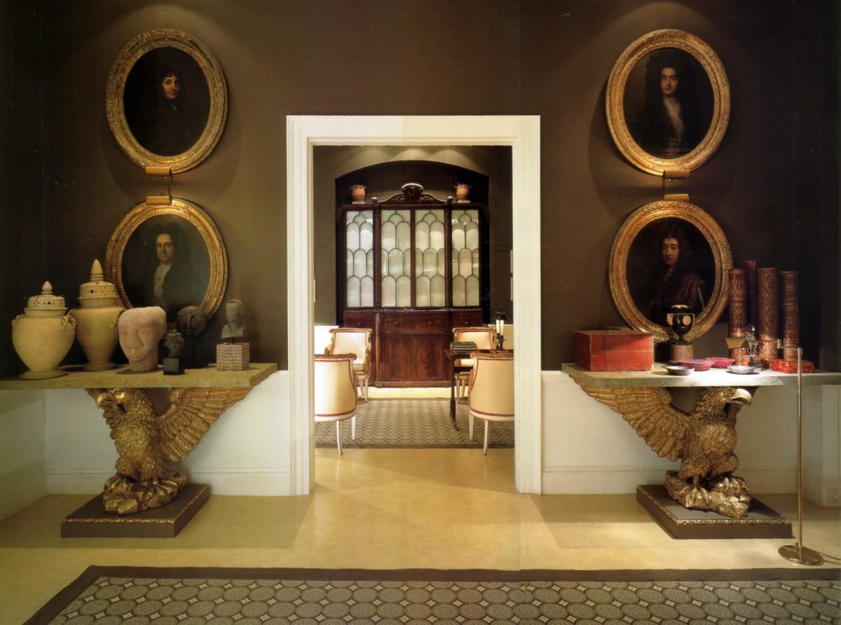 Гостиная, холл в цветах: серый, темно-коричневый, коричневый, бежевый. Гостиная, холл в стиле английские стили.