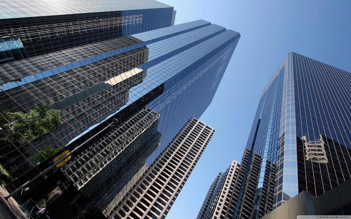 Архитектура в цветах: голубой, фиолетовый, черный, серый. Архитектура в .