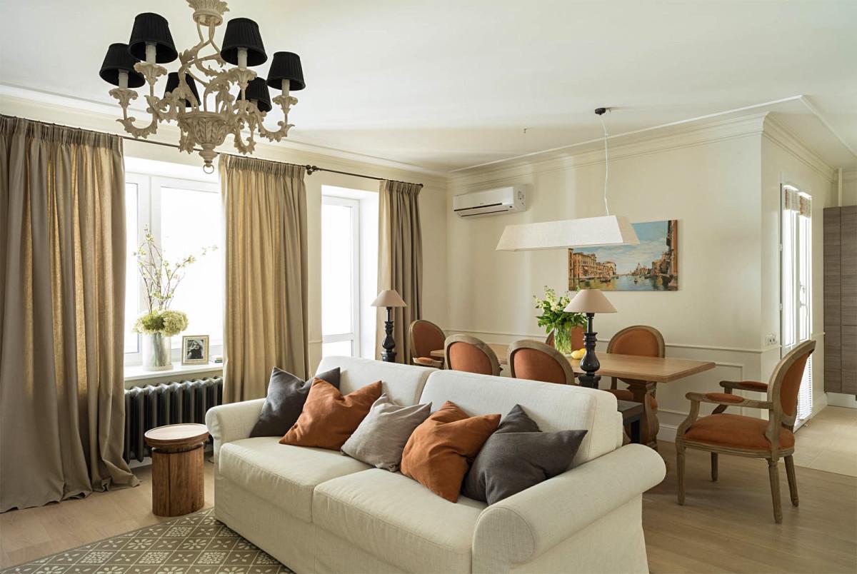 Гостиная, холл в цветах: темно-коричневый, коричневый, бежевый. Гостиная, холл в стиле минимализм.