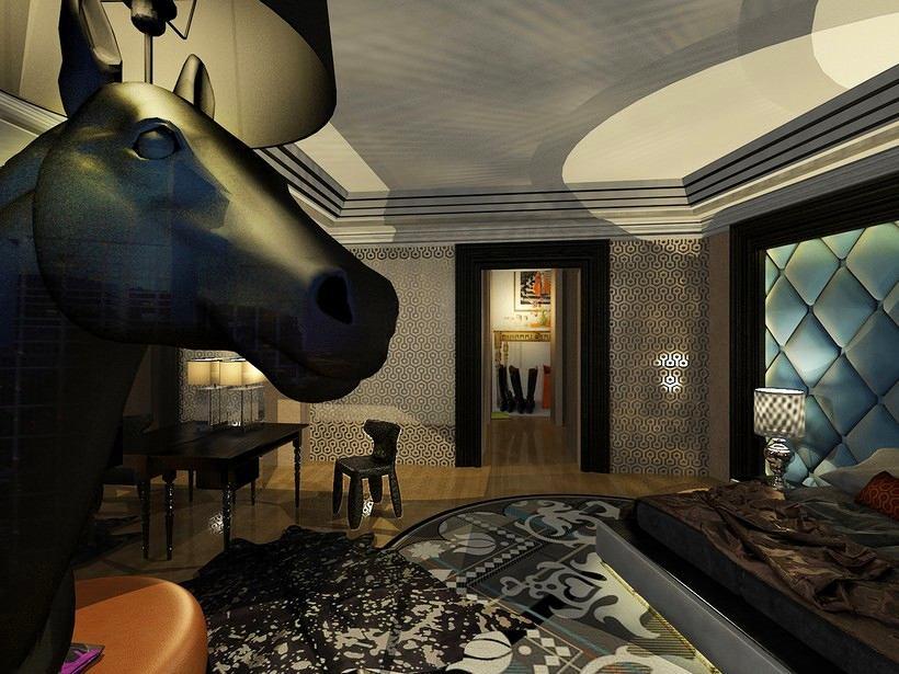 Подсобное помещение в цветах: черный, серый, светло-серый, сине-зеленый, темно-коричневый. Подсобное помещение в стиле арт-деко.
