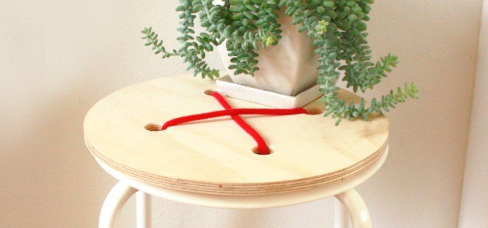 Очумелые ручки: как превратить стандартный стул ИКЕА в оригинальный журнальный столик. Мастер-класс