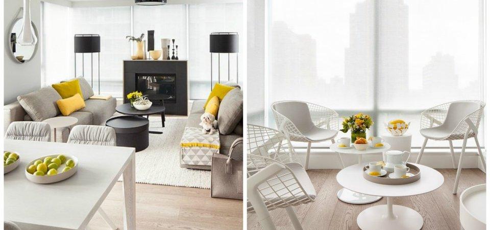 Как оформить квартиру в серо-жёлтой гамме: реальный пример из Ванкувера