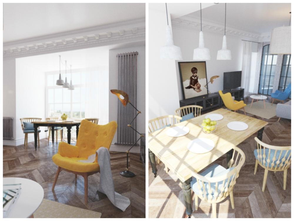 Гостиная, холл в цветах: серый, светло-серый, бежевый. Гостиная, холл в стилях: скандинавский стиль, эклектика.