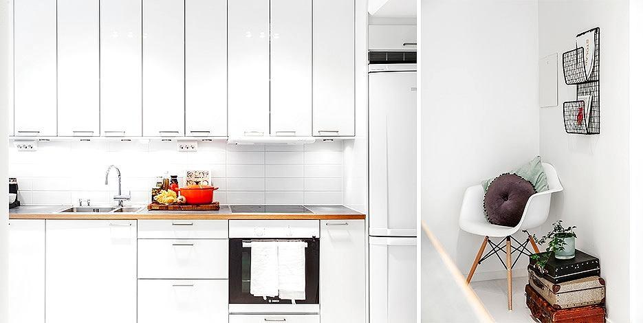 Кухня в цветах: желтый, черный, серый, светло-серый. Кухня в стилях: скандинавский стиль, эклектика.
