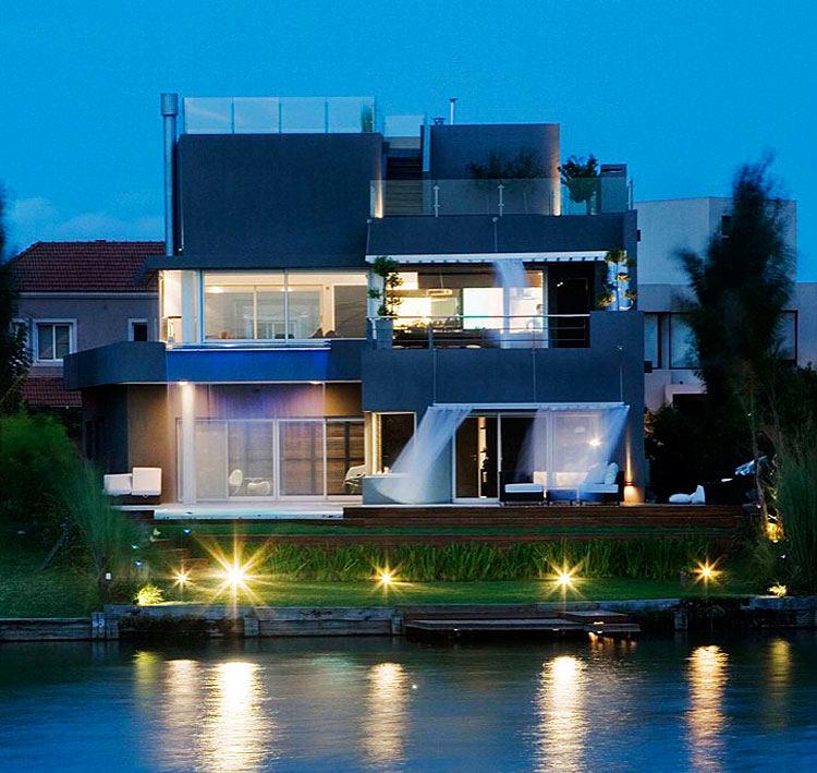 Архитектура в цветах: голубой, бирюзовый, черный, серый, сине-зеленый. Архитектура в стиле минимализм.