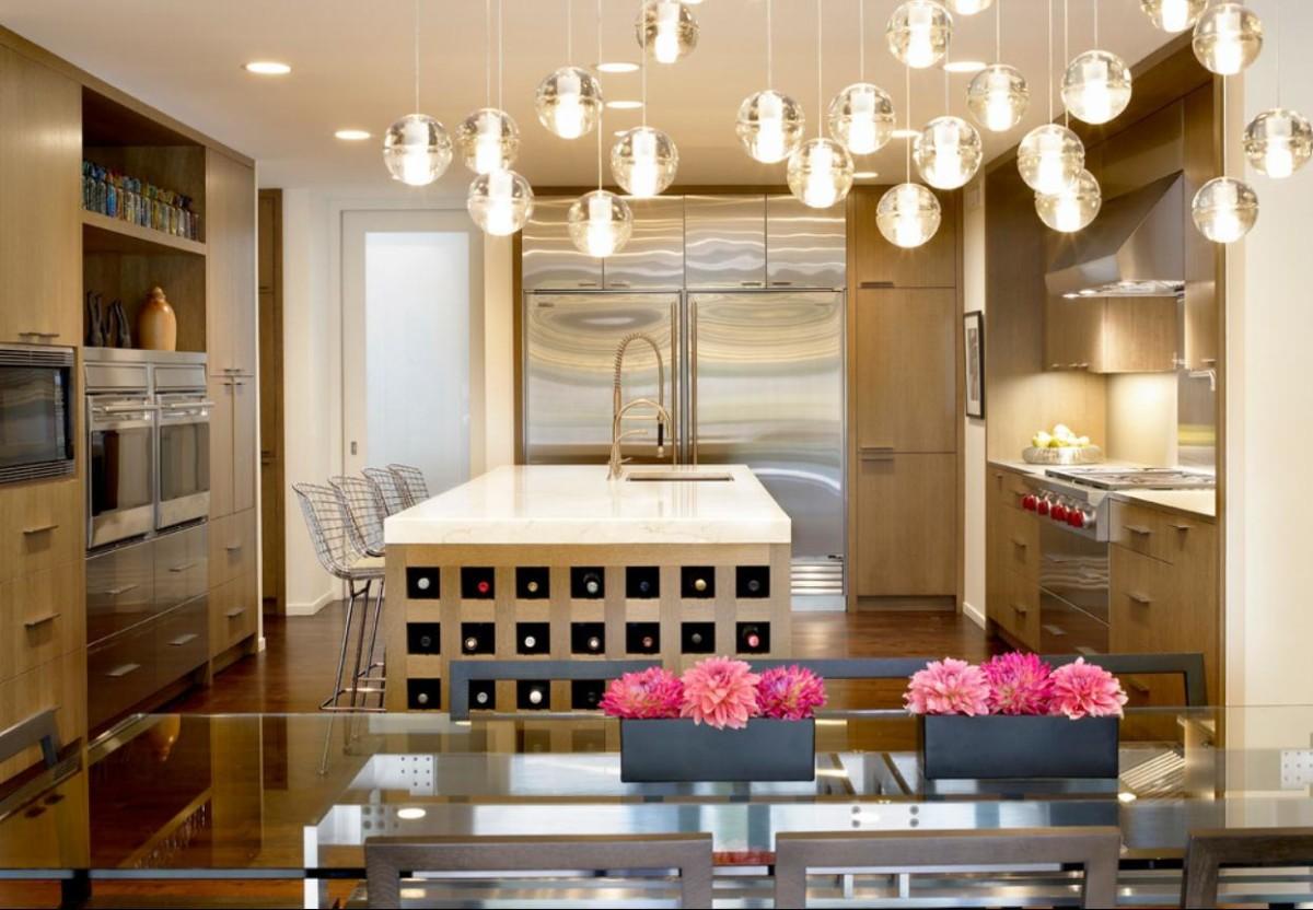 Кухня в цветах: желтый, серый, светло-серый, коричневый, бежевый. Кухня в стилях: минимализм.