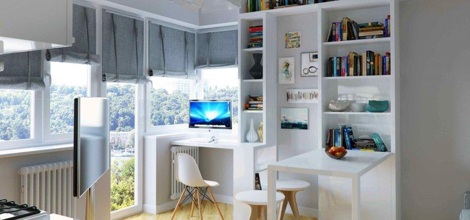 Как спланировать квартиру-студию: пример из Москвы