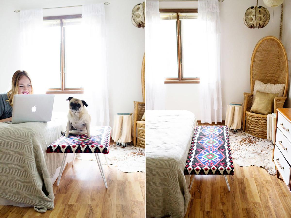 Мебель и предметы интерьера в цветах: фиолетовый, серый, белый, розовый, коричневый. Мебель и предметы интерьера в стиле этника.