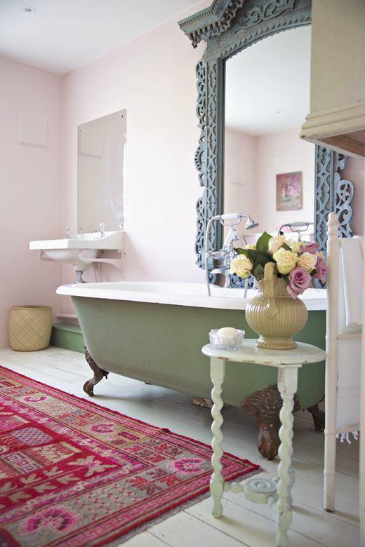 Grüne Pastell im Wohnzimmer Mit Shabby Chic Stil - Deko Ideen