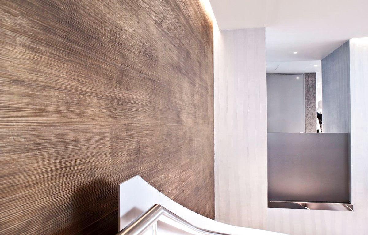 Декор в цветах: серый, светло-серый, белый, коричневый, бежевый. Декор в стилях: минимализм.