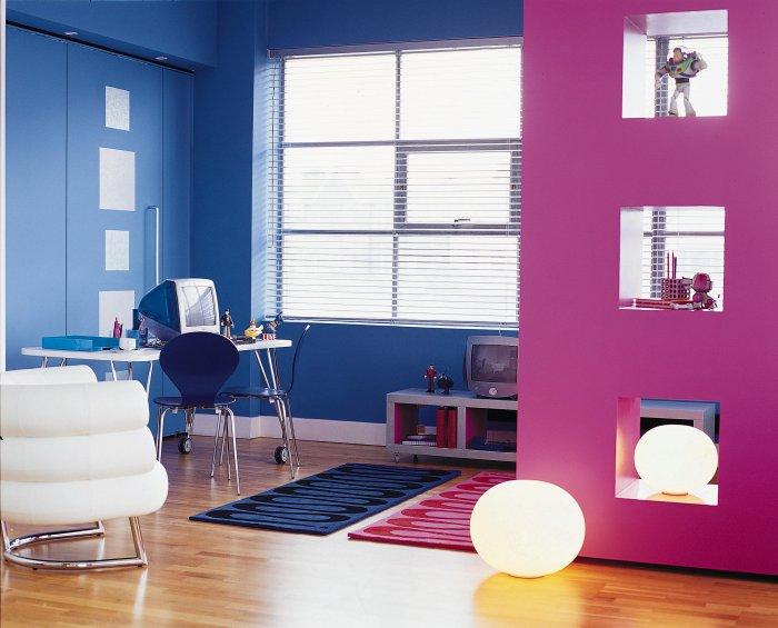 Детская в цветах: бирюзовый, черный, светло-серый, белый, розовый. Детская в стилях: минимализм.
