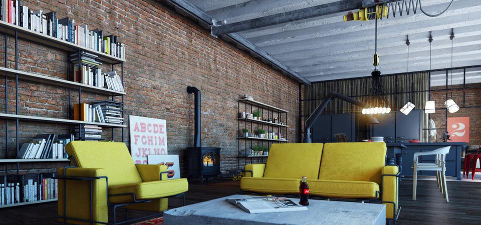 Настоящий лофт на заброшенном заводе: идеальная квартира для архитектора