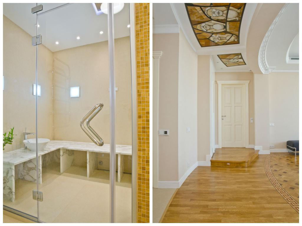Туалет в цветах: светло-серый, бежевый. Туалет в стилях: классика.
