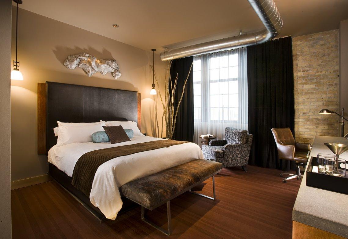 Спальня в цветах: черный, белый, темно-коричневый, коричневый, бежевый. Спальня в стиле арт-деко.