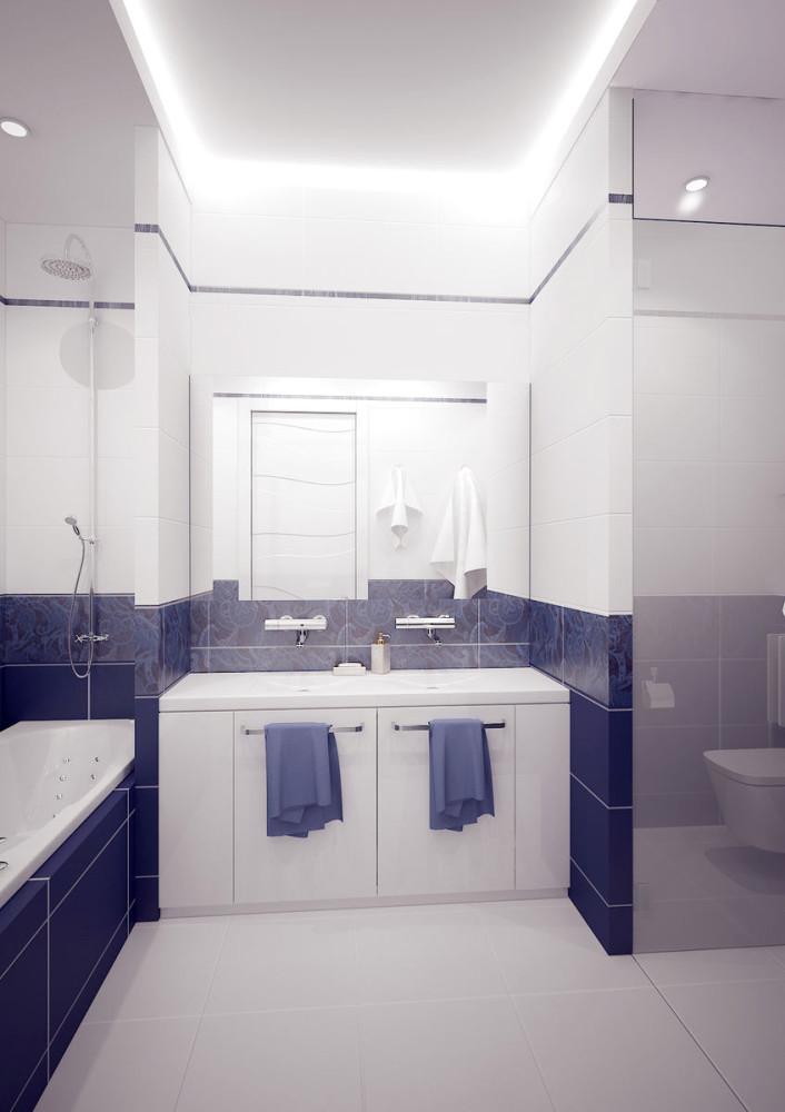Декор в цветах: белый, сине-зеленый. Декор в стиле минимализм.