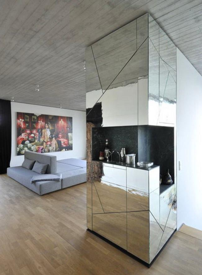 Гостиная, холл в цветах: черный, серый, светло-серый, белый, бежевый. Гостиная, холл в стилях: арт-деко.