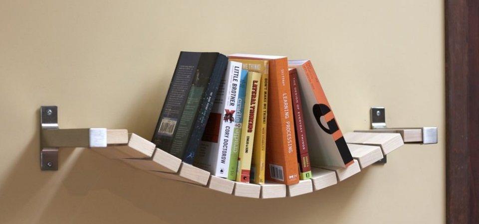 Как смастерить оригинальную книжную полку с помощью товаров, приобретённых в ИКЕА: мастер-класс