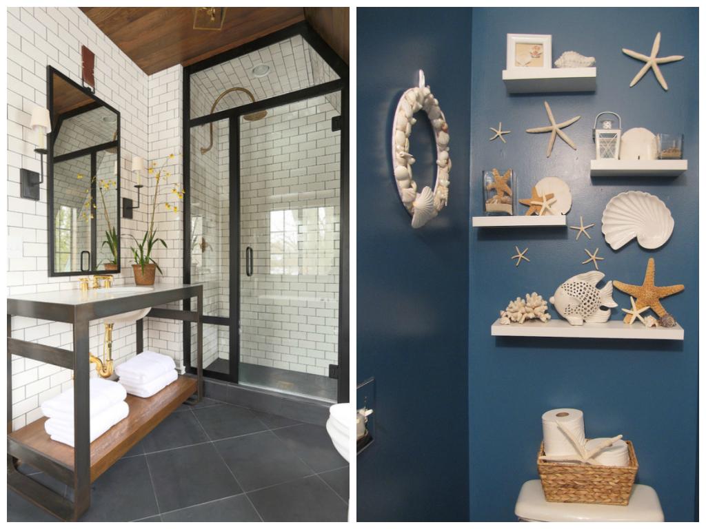 Туалет в цветах: бирюзовый, серый, белый, темно-коричневый. Туалет в стиле экологический стиль.