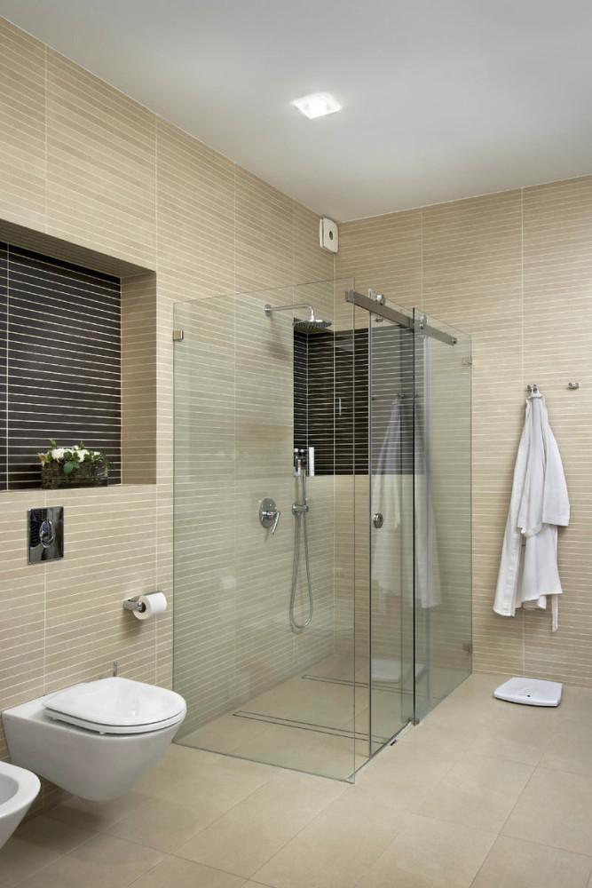 Туалет в цветах: черный, серый, светло-серый, бежевый. Туалет в стиле минимализм.