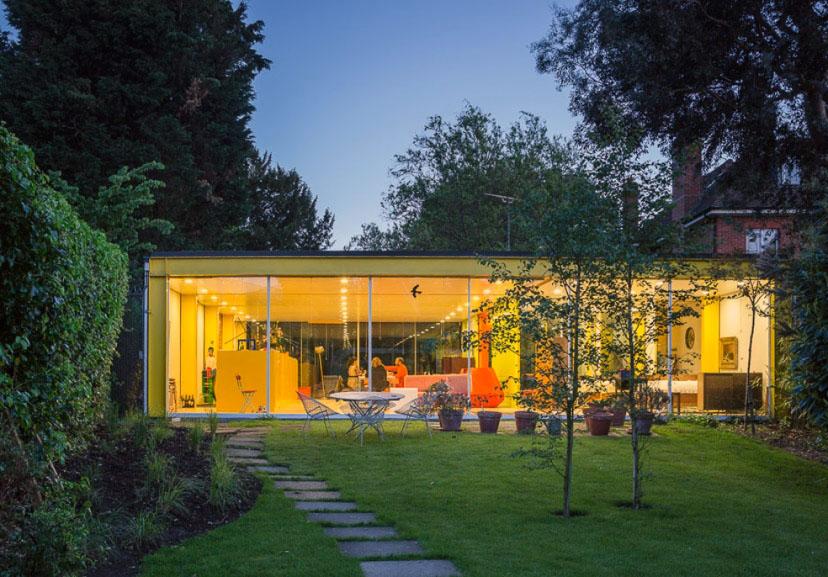 Архитектура в цветах: серый, лимонный, салатовый. Архитектура в стиле хай-тек.