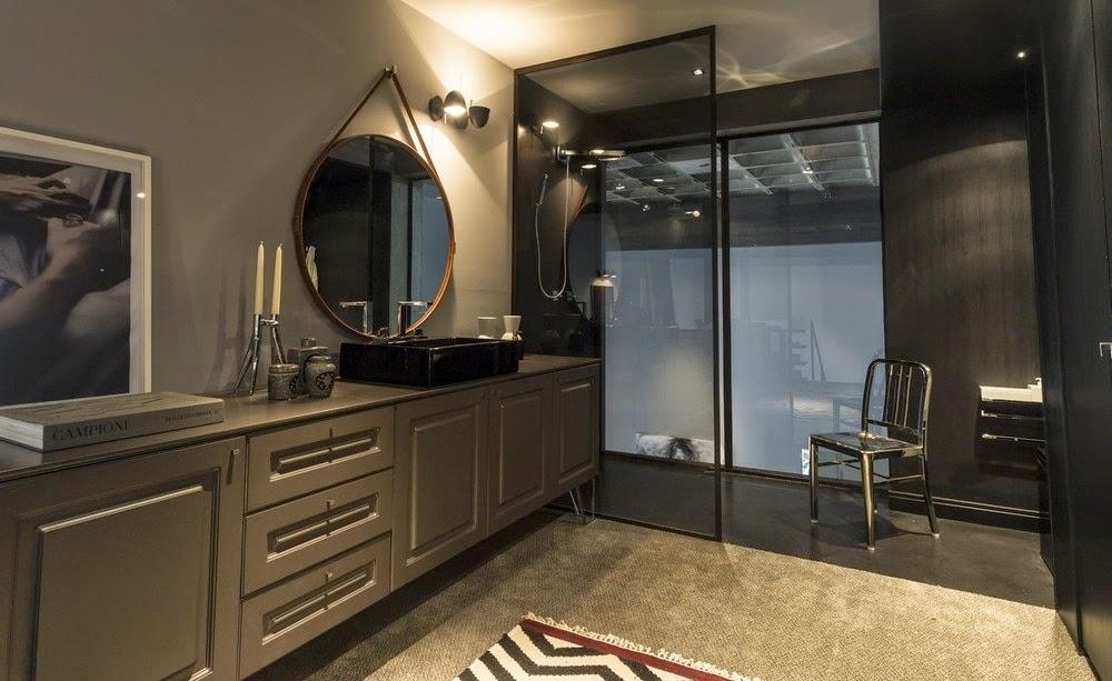 Мебель и предметы интерьера в цветах: черный, серый, светло-серый, темно-зеленый, бежевый. Мебель и предметы интерьера в стиле лофт.