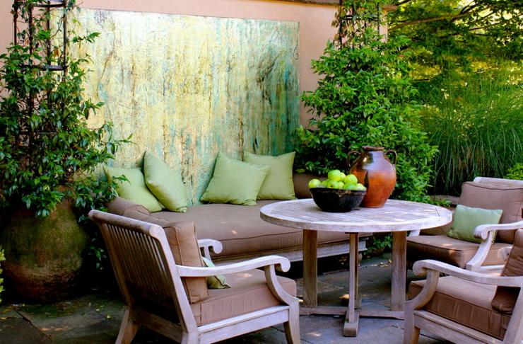 Балкон, веранда, патио в цветах: черный, серый, светло-серый, темно-зеленый. Балкон, веранда, патио в стиле экологический стиль.