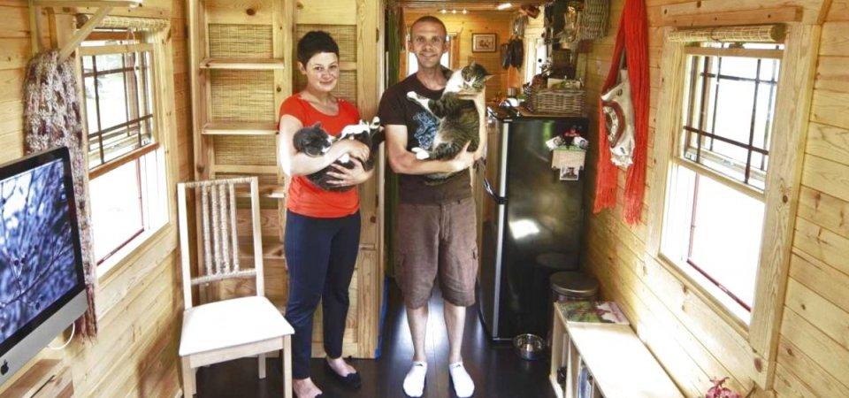 13 метров идиллии: жизнь семейной пары в крохотном деревянном доме