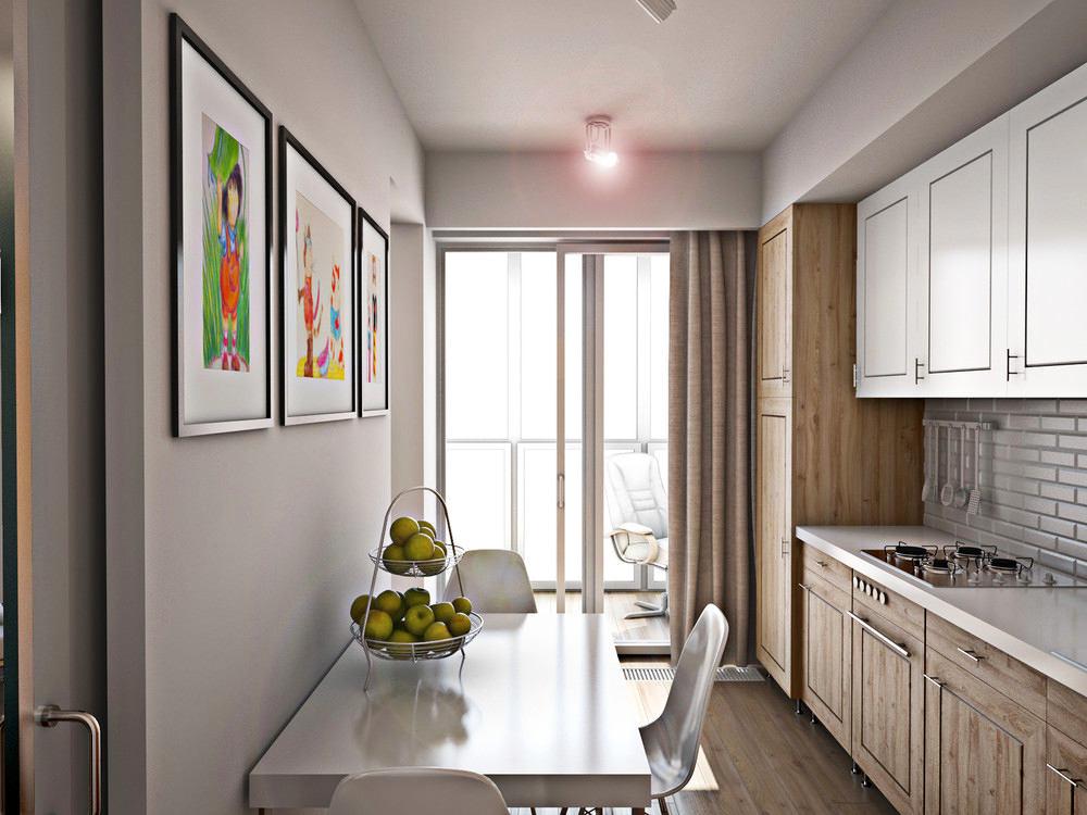 Кухня в цветах: серый, белый, коричневый, бежевый. Кухня в стиле экологический стиль.