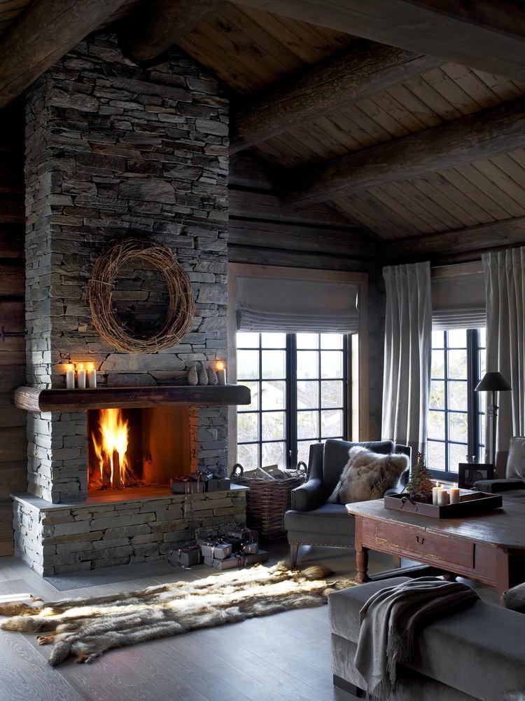 Гостиная, холл в цветах: серый, светло-серый, темно-коричневый. Гостиная, холл в стиле скандинавский стиль.