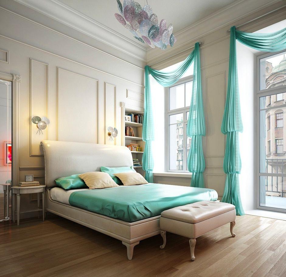 Мебель и предметы интерьера в цветах: голубой, серый, светло-серый, белый. Мебель и предметы интерьера в стиле неоклассика.
