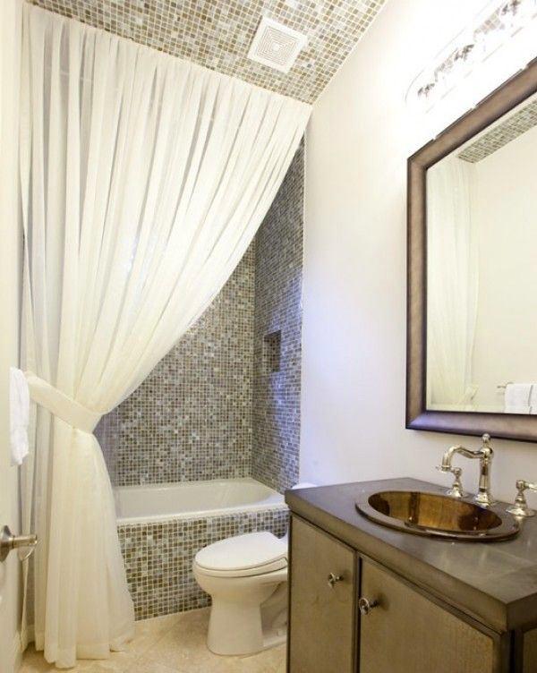 Туалет в цветах: серый, светло-серый, белый. Туалет в стиле эклектика.