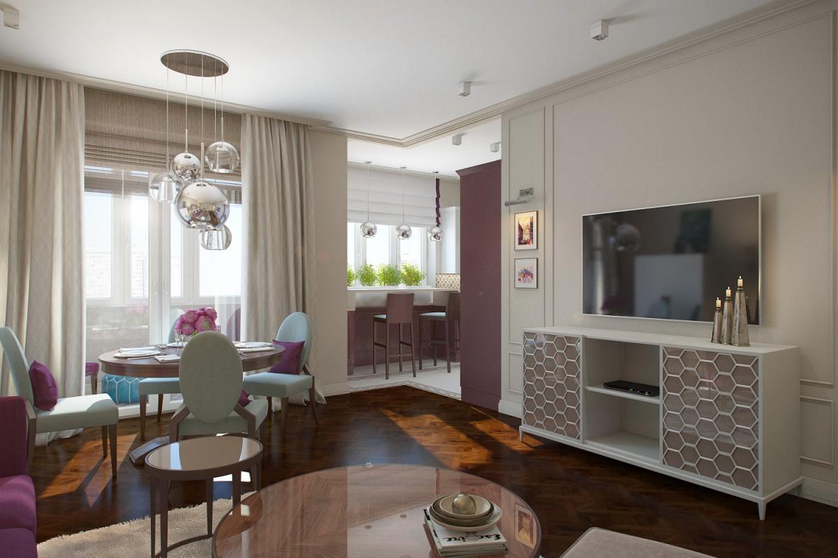 Гостиная, холл в цветах: голубой, серый, светло-серый, белый, сиреневый. Гостиная, холл в стиле арт-деко.