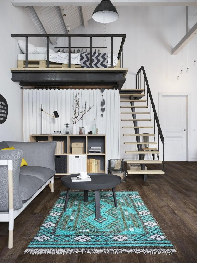 Гостиная, холл в цветах: черный, серый, светло-серый, белый. Гостиная, холл в стиле скандинавский стиль.
