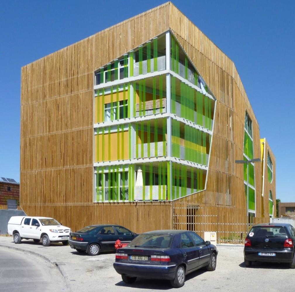 Архитектура в цветах: голубой, серый, светло-серый, бежевый. Архитектура в стиле модерн и ар-нуво.
