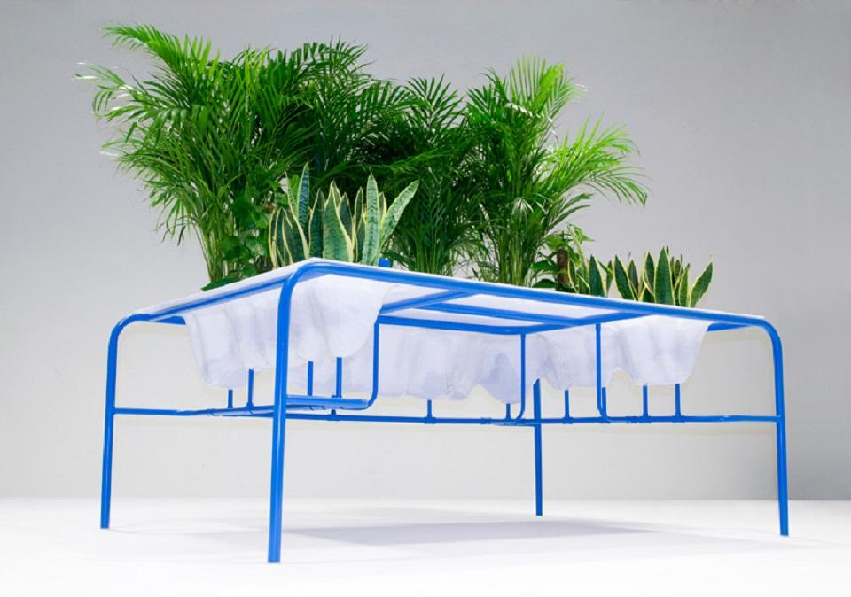 Мебель и предметы интерьера в цветах: голубой, белый, темно-зеленый, салатовый. Мебель и предметы интерьера в .