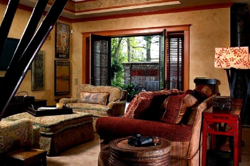 Архитектура в цветах: черный, серый, темно-коричневый, коричневый, бежевый. Архитектура в стиле английские стили.