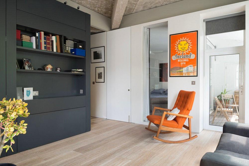 Мебель и предметы интерьера в цветах: оранжевый, серый, светло-серый, белый, бежевый. Мебель и предметы интерьера в стиле лофт.