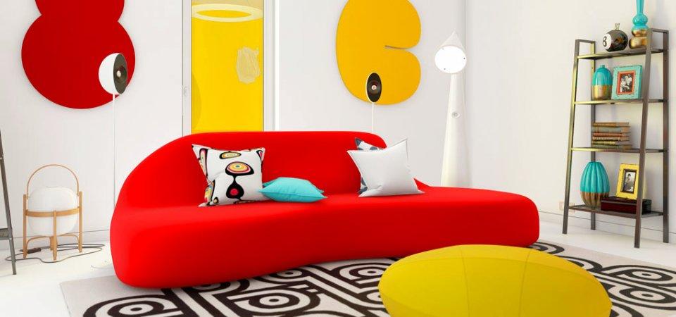 Проект недели: буйство красок, диван от Карима Рашида и очень творческий хозяин